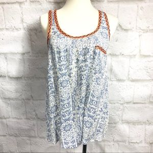 Collective Concepts Lace Chambray look print tank